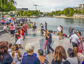 There a a number of spots along the Seine to Tango as well as free lessons.