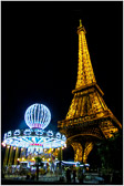 At night the Eiffel vicinity takes on the air of a busy amusement park.