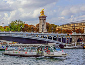 Just one of the many boats that you see any given day on the Seine.