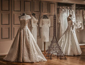 Some wedding dress choices for the French bride offered at Lafayette.
