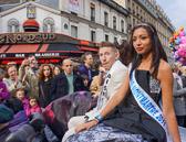 Honored guests in Montmartre's Fete de Vindage parade.