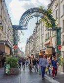 One of many pedestrian streets in Paris where you find a lot to tempt the taste buds.