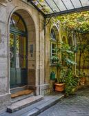 Apartment entrance on Île de la Cité just a block away from Notre Dame.
