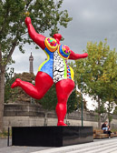 A 2014 installation on the Seine is one of Niki De St. Phalle's Nana's.