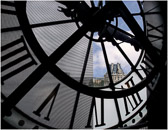 Paris 500 years ago seen through the big clock at the d`Orsay Museum.