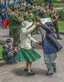 In Cuzco on Sundays the people flock to the town square for music, dancing, fun and food.