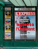 A L`Express headline a few days after 9/11 suggests war in the West.