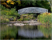 This bridge was photographed in Weston, Vermont.