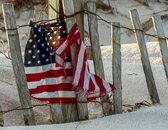 A fisherman's 9/11 memorial at Island Beach State Park in New Jersey.