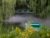 Another view of Monet's bridge recreated at the Grounds for Sculpture.